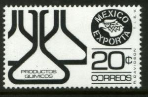 MEXICO Exporta 1110 20¢ Chem flasks Unwmkd Fosfo Paper 5 MNH. VF.
