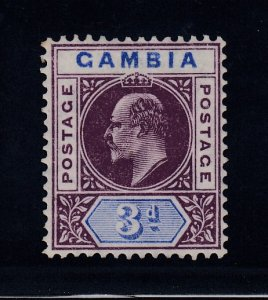 Gambia, SG 61 var, MLH Slotted Frame variety