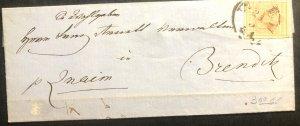 1856 Vienna Austrian Empire Vintage Letter Cover To Brenditz