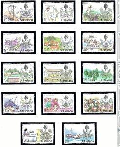 St Helena 246-56A MNH 1971 Definitive Set