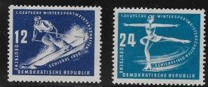 Germany DDR - Scott #51-52 - F- VF - Mint Never Hinged (NH)