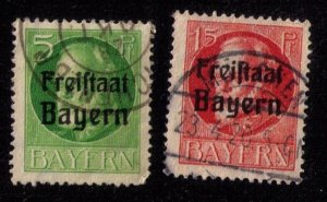 BAVARIA-Bayern-Scott #194,197 INCOMPLETE SET USED Early German States F-VF