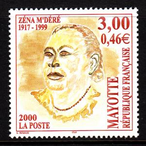 Mayotte MNH Scott #141 3fr Zena M'Dere, Politician