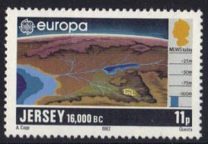 Jersey  1981  MNH  Europa  11 p. 16.000 BC   #