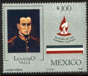 MEXICO 1487, Rotunda Interment of Gen. Leandro Valle. MINT, NH. VF.