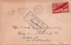 United States A.P.O.'s 6c Transport 1946 South Hadley, Mass. Concession Airma...