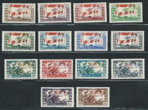 Lebanon 189-96 C101-6 V overprint set MNH