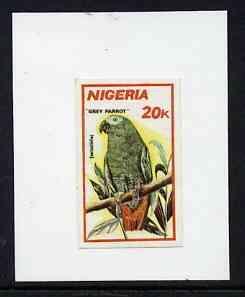 Nigeria 1990 Wildlife - Grey Parrot 20k - imperf machine ...