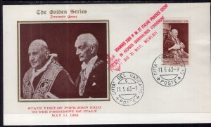Vatican City Pope John XXIII Visit with The President of Italy 1964 Cover