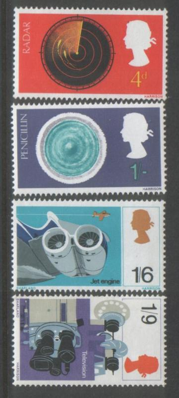 Great Britain 1967 Discoveries (4) Scott # 518-21