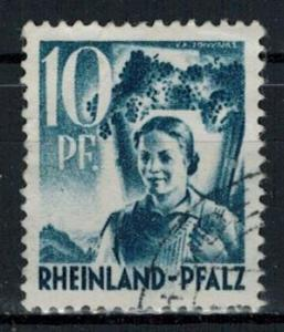 Germany - French Occupation - Rhine Palatinate - Scott 6N3