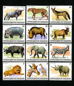 Burundi Stamps # 589-600 XF Animals OG NH Scott Value $188.00