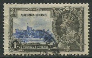 STAMP STATION PERTH Sierra Leone #166 Silver Jubilee 1935 Used