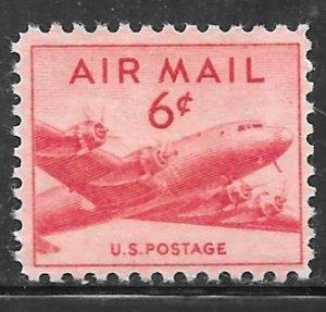 USA C39: 6c DC-4 Skymaster Airmail, MNH, F-VF