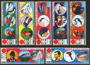 Equatorial Guinea. 1972. 27-33. Sapporo, winter olympic games. USED.