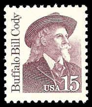 PCBstamps  US #2177a 15c Buffalo Bill Cody, overall tagging, 1990, MNH, (9)