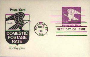 United States, Government Postal Card, First Day Cover, Tennessee