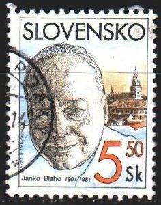 Slovakia. 2001. 386. Blaho, opera singer. USED.