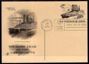 US UX62 Monument Valley Artcraft Postal Card U/A FDC