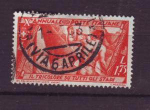 J20309 jlstamps 1932 italy used #302 design