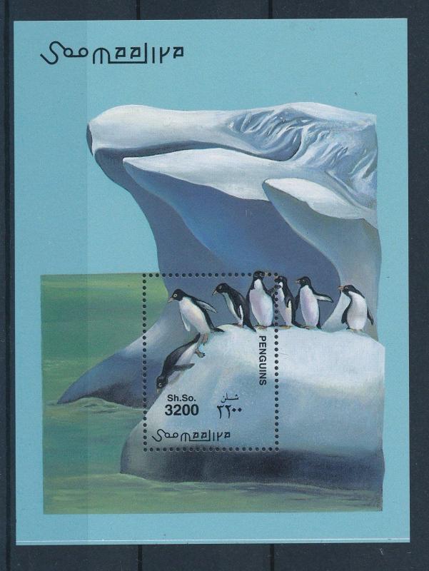 [27977] Somalia 2001 Birds Vögel Oiseaux Ucelli Penguins MNH Sheet