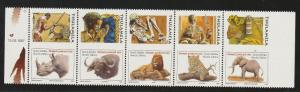 SOUTH AFRICA 1997 BIG 5 ANIMALS BOOKLET PANE IMPERF MNH **