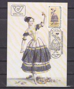 Austria, Scott cat. 1297. Dancer Fanny Eissler issue. Max. Card. ^