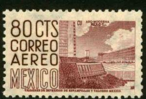 MEXICO C194, 80cents 1950 Definitive 1st Printing wmk 279 MINT, NH. VF.