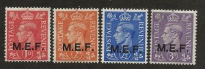 GREAT BRITAIN - MIDDLE EAST FORCES SC# 10-13  FVF/MOG 1943