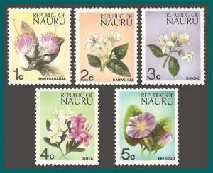 Nauru 1973 Flower Definitives, MNH 91-95,SG99-SG103