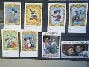 St. Vincent and the Grenadines MNH nice lot of stamps