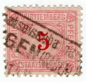 (I.B) Germany Railway : Wurttemburg Staatsbahnen 5pf