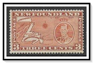 Newfoundland #234a Map MH