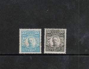 Sweden #90 #92 Very Fine Mint Original Gum Hinged Rare Duo