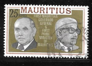 Mauritius 463: R25 First Governor-General and Prime Minister, used, F-VF
