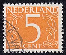 Netherlands # 341 used ~ 5¢ Numeral