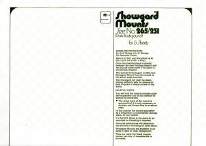 SHOWGARD BLACK MOUNTS 265/231 (5) RETAIL PRICE $21.25