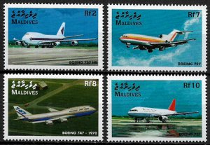 Maldives MNH 2313-6 Airplanes Aviation 1998