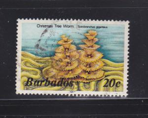 Barbados 645a U Christmas Tree Worm (B)