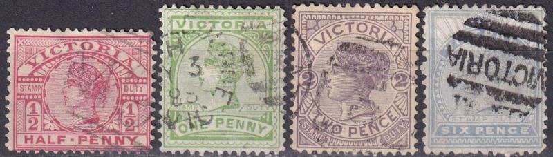 Victoria #160, 161-2, 164  F-VF Used CV $7.45 (A19035)