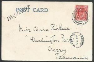 GIBRALTAR 1903 postcard PAQUEBOT, to Tasmania - Cressy arrival cds.........59611