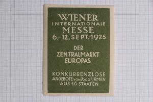 Wiener 1925 Central European market Expo fair Messe jumbo poster ad label intl.