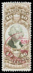 U.S. REV. THIRD ISSUE R141  Used (ID # 80043)