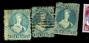 New Zealand #41 (3) Used Fine Sm Faults Cat $240