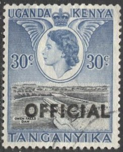 TANGANYIKA  1959 Sc O5 30c Used VF  Official stamp