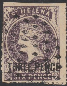 ST HELENA  An old forgery of a classic stamp................................D348