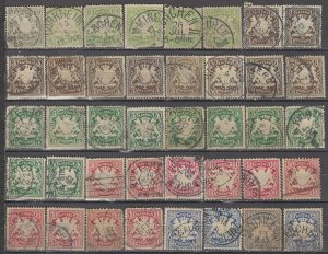 COLLECTION LOT OF #1201 BAVARIA 40 STAMPS 1876+ CLEARANCE CV + $24
