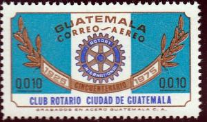 Guatemala #C567 Guatemala City 50th Anniv. Of the Rotory Club, 1975. MNH