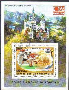 UPPER VOLTA, 1974 CTO 450f. MS Coupe du monde de Football, Munich 1974