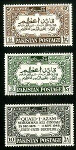 Pakistan Stamps # 44-6 VF MLH
